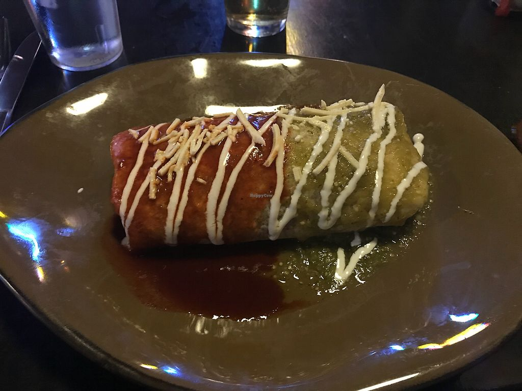 "Photo of Hussong's Cantina - Boca Park  by <a href=""/members/profile/thedoogster"">thedoogster</a> <br/>Huge vegan ""wet"" burrito.  <br/> December 21, 2017  - <a href='/contact/abuse/image/62584/337773'>Report</a>"