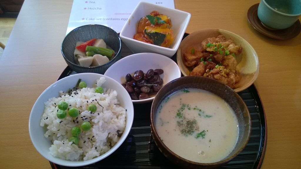 """Photo of Otera House - Shojin Cafe Waka  by <a href=""""/members/profile/sathya1709"""">sathya1709</a> <br/>Lunch set for 850 JPY <br/> February 17, 2016  - <a href='/contact/abuse/image/62596/136735'>Report</a>"""