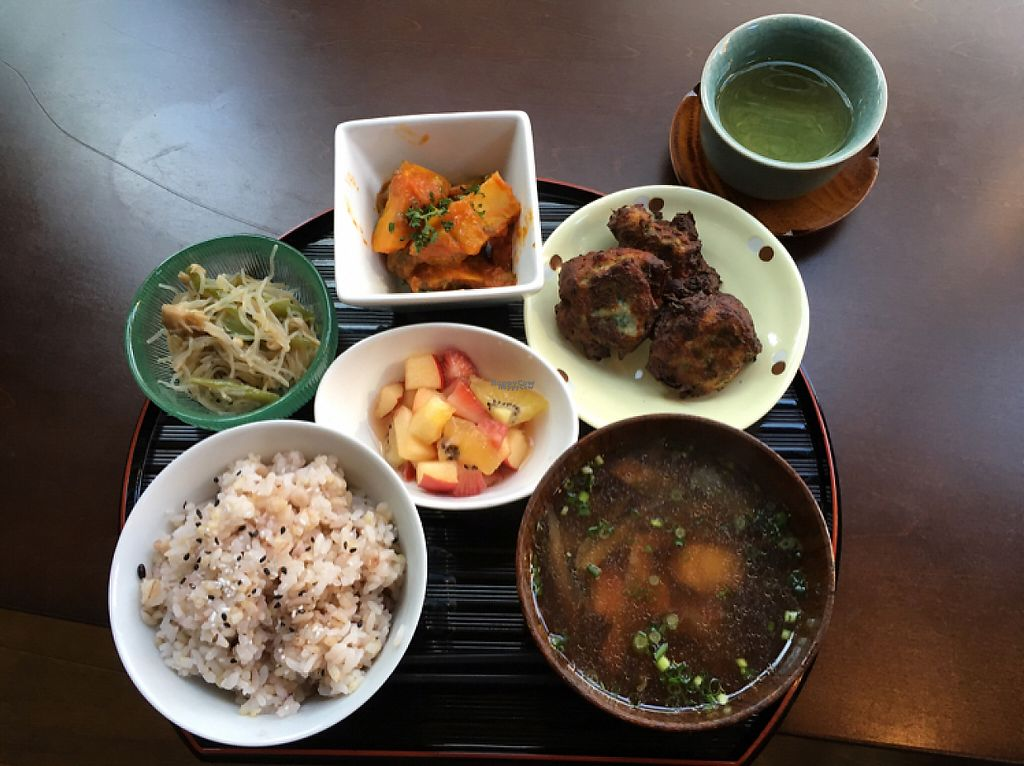 """Photo of Otera House - Shojin Cafe Waka  by <a href=""""/members/profile/KyotoNice"""">KyotoNice</a> <br/>100 yen lunch set includes coffee or tea <br/> January 26, 2017  - <a href='/contact/abuse/image/62596/216972'>Report</a>"""