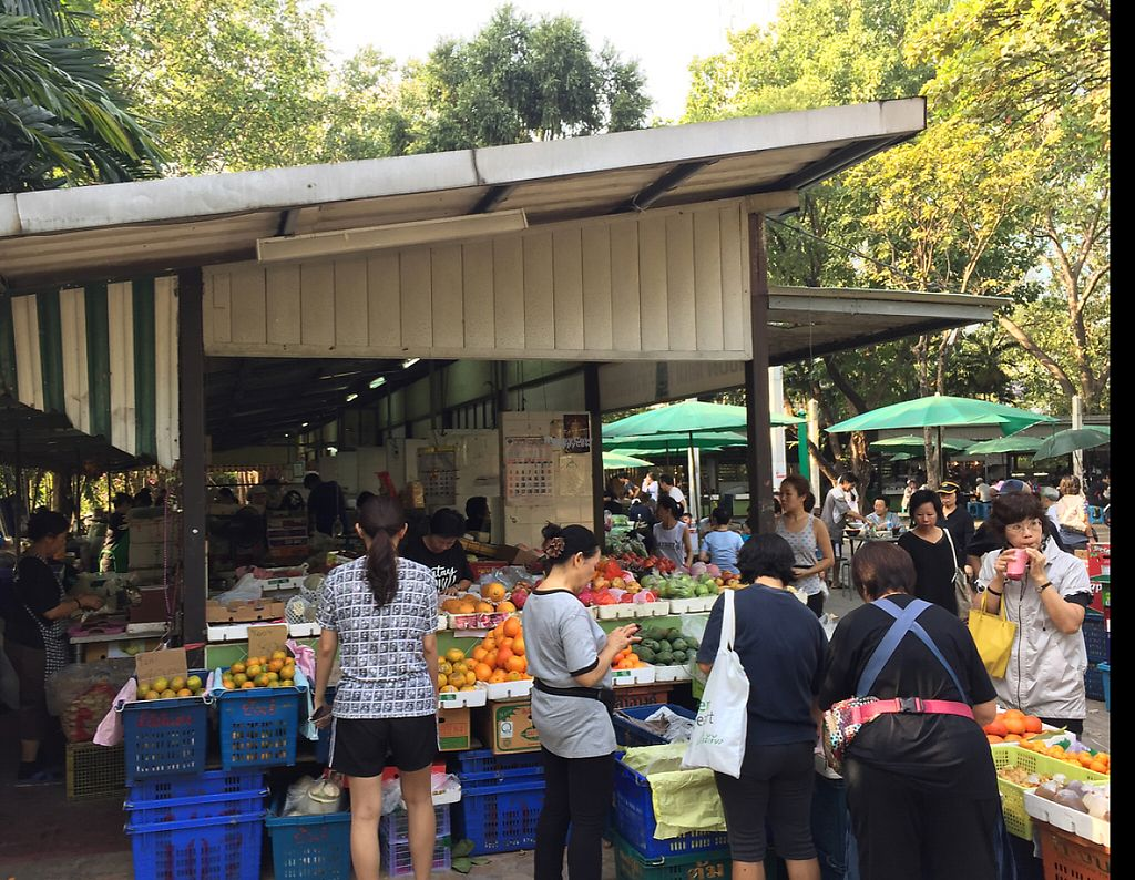 "Photo of Lumpini Park Morning Market Stall  by <a href=""/members/profile/MyVeganJoy"">MyVeganJoy</a> <br/>fruit and some prepared hot sit-down vegan food <br/> December 13, 2016  - <a href='/contact/abuse/image/6259/200655'>Report</a>"