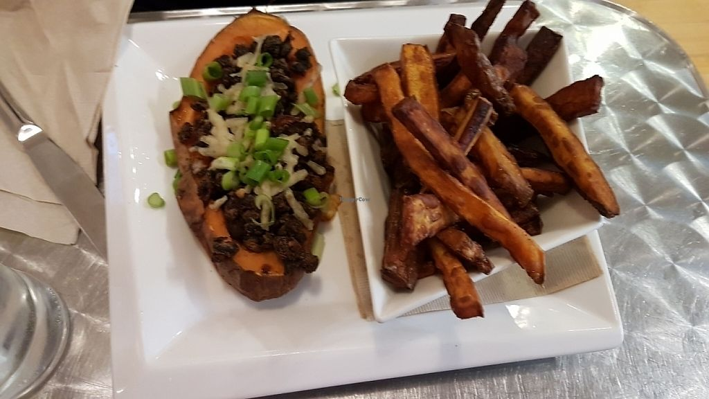"Photo of Cosmic Treats  by <a href=""/members/profile/Kbee"">Kbee</a> <br/>Chipotle Sweet Potato Skins with root vegetable fries <br/> May 14, 2017  - <a href='/contact/abuse/image/62637/258763'>Report</a>"