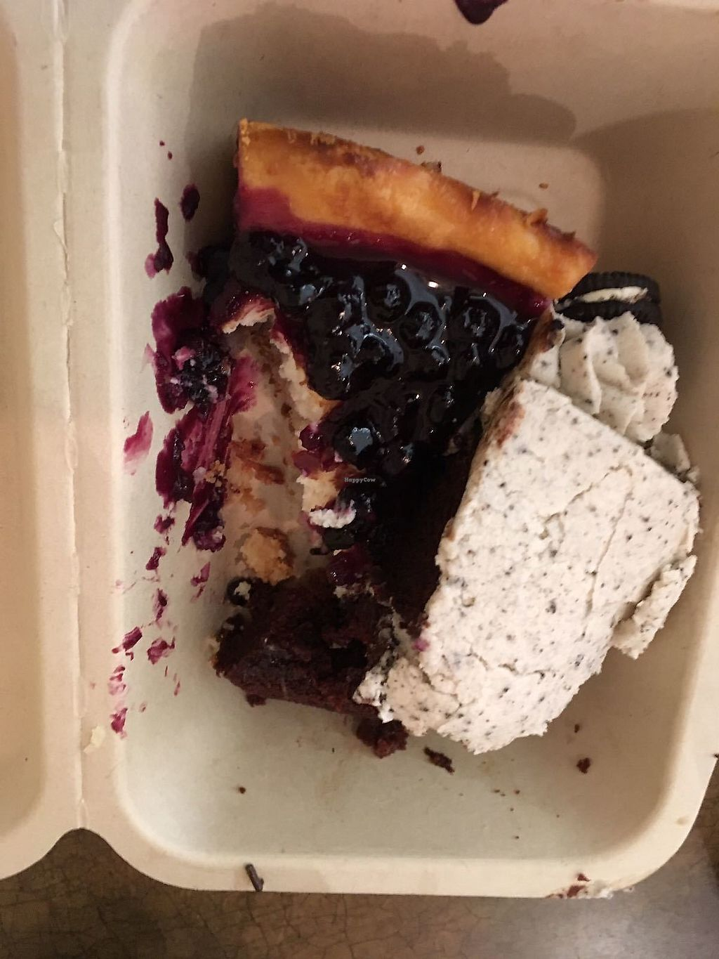 "Photo of Cosmic Treats  by <a href=""/members/profile/Sharkademus"">Sharkademus</a> <br/>Take away Cheesecake and Chocolate Oreo Cake. Bit mushy so not the greatest photo ha! But tasty!  <br/> March 12, 2018  - <a href='/contact/abuse/image/62637/369711'>Report</a>"