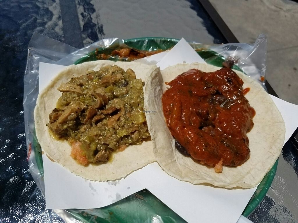"""Photo of TacosNveggie Food Cart  by <a href=""""/members/profile/kenvegan"""">kenvegan</a> <br/>more vegan tacos <br/> July 27, 2016  - <a href='/contact/abuse/image/62729/162717'>Report</a>"""