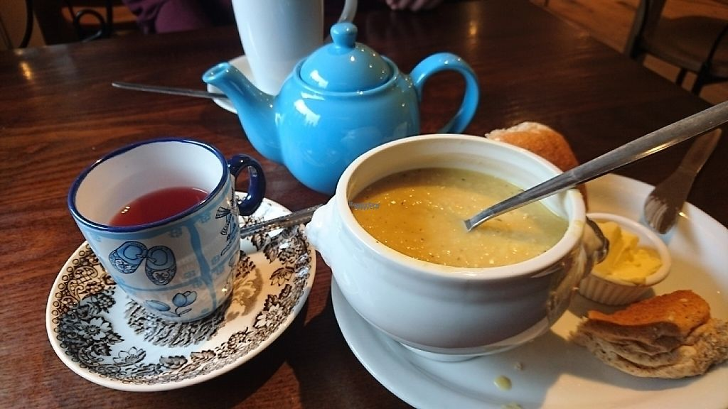 """Photo of The Little Potting Shed Cafe - temporarily closed  by <a href=""""/members/profile/Ursa_minor"""">Ursa_minor</a> <br/>large choice of different teas and home made soup <br/> March 11, 2017  - <a href='/contact/abuse/image/62768/235219'>Report</a>"""