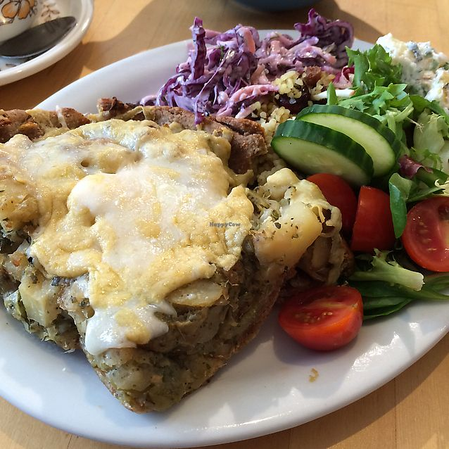 """Photo of The Little Potting Shed Cafe - temporarily closed  by <a href=""""/members/profile/Vgneats"""">Vgneats</a> <br/>Vegan Homity pie <br/> June 18, 2017  - <a href='/contact/abuse/image/62768/270350'>Report</a>"""
