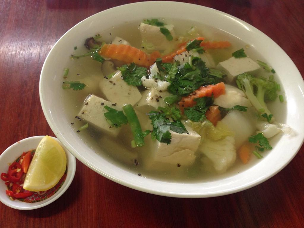 """Photo of Bo De Trai  by <a href=""""/members/profile/Tiggy"""">Tiggy</a> <br/>Bean curd and mixed vegetables in soup - May 2015 <br/> May 16, 2015  - <a href='/contact/abuse/image/6277/102492'>Report</a>"""