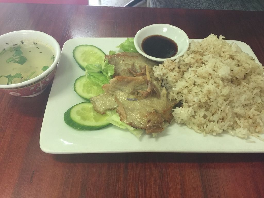 """Photo of Bo De Trai  by <a href=""""/members/profile/Tiggy"""">Tiggy</a> <br/>Vegan chicken with rice - July 2016 <br/> August 31, 2016  - <a href='/contact/abuse/image/6277/172739'>Report</a>"""