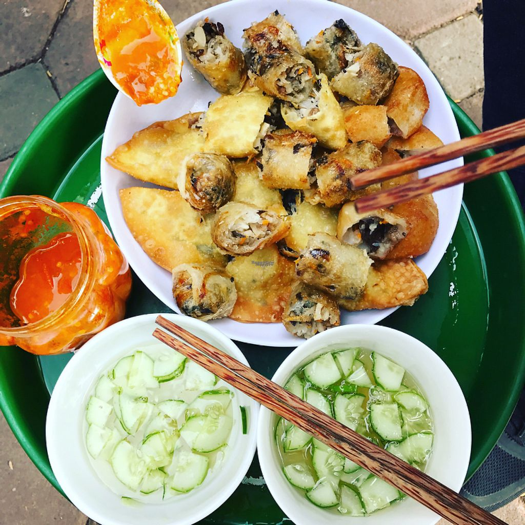 """Photo of Vegan Banh Mi - Food Cart  by <a href=""""/members/profile/pammkins"""">pammkins</a> <br/>Assorted fried donuts and spring rolls  <br/> December 23, 2016  - <a href='/contact/abuse/image/62847/204260'>Report</a>"""