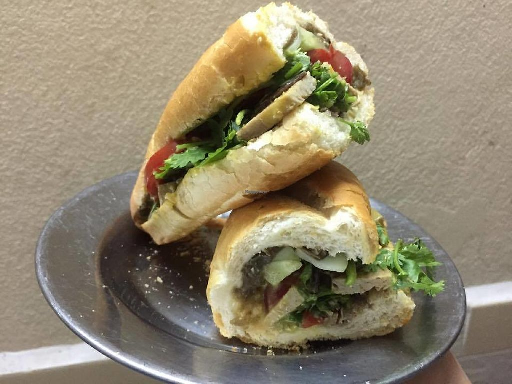 """Photo of Vegan Banh Mi - Food Cart  by <a href=""""/members/profile/KateNguyen"""">KateNguyen</a> <br/>Vegan Banh mi - Bánh mì chay <br/> May 17, 2017  - <a href='/contact/abuse/image/62847/259486'>Report</a>"""