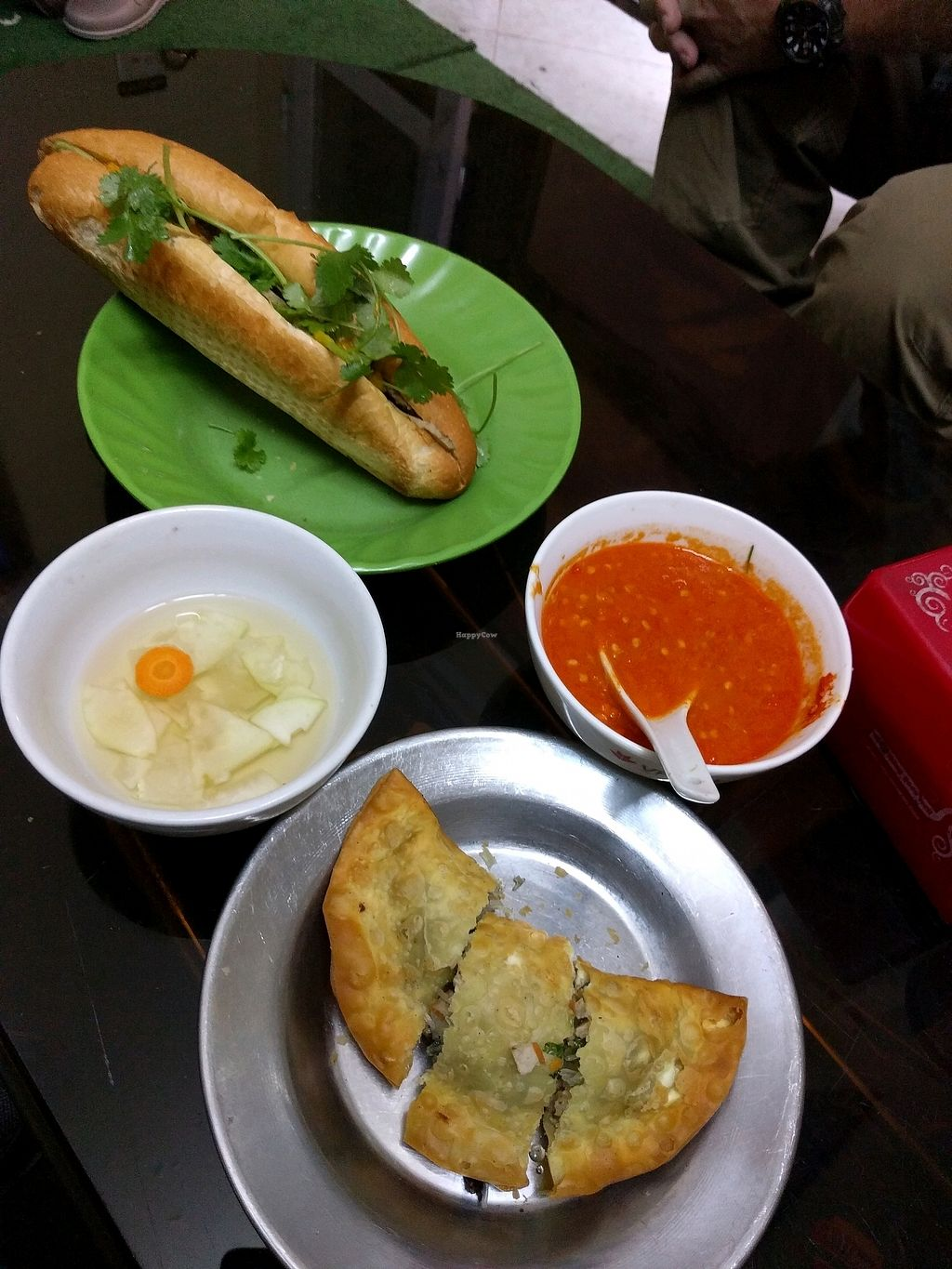 """Photo of Vegan Banh Mi - Food Cart  by <a href=""""/members/profile/mikeandsunny"""">mikeandsunny</a> <br/>banh mi and 'pillow donut' <br/> January 22, 2018  - <a href='/contact/abuse/image/62847/349700'>Report</a>"""