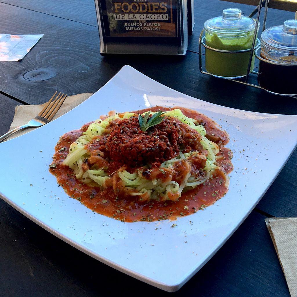 """Photo of La Veggicheria  by <a href=""""/members/profile/Mauricio%20Reza"""">Mauricio Reza</a> <br/>Squash spaghetti with lentils  <br/> January 14, 2016  - <a href='/contact/abuse/image/62861/132346'>Report</a>"""