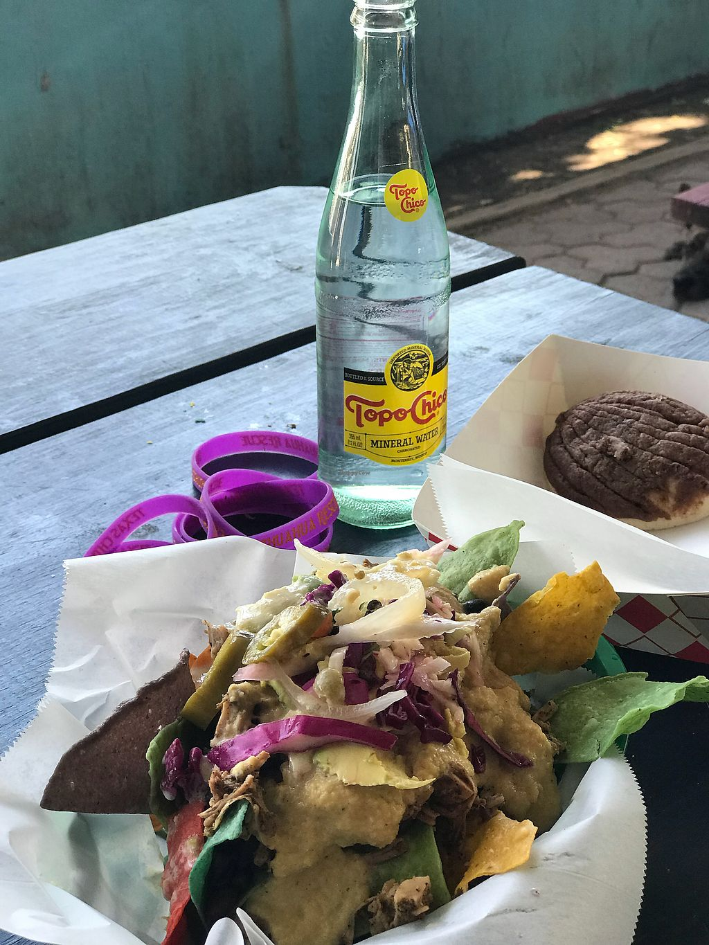 "Photo of La Botanica  by <a href=""/members/profile/modelmd"">modelmd</a> <br/>Barbacoa jackfruit nachos and concha <br/> April 15, 2018  - <a href='/contact/abuse/image/62870/386551'>Report</a>"