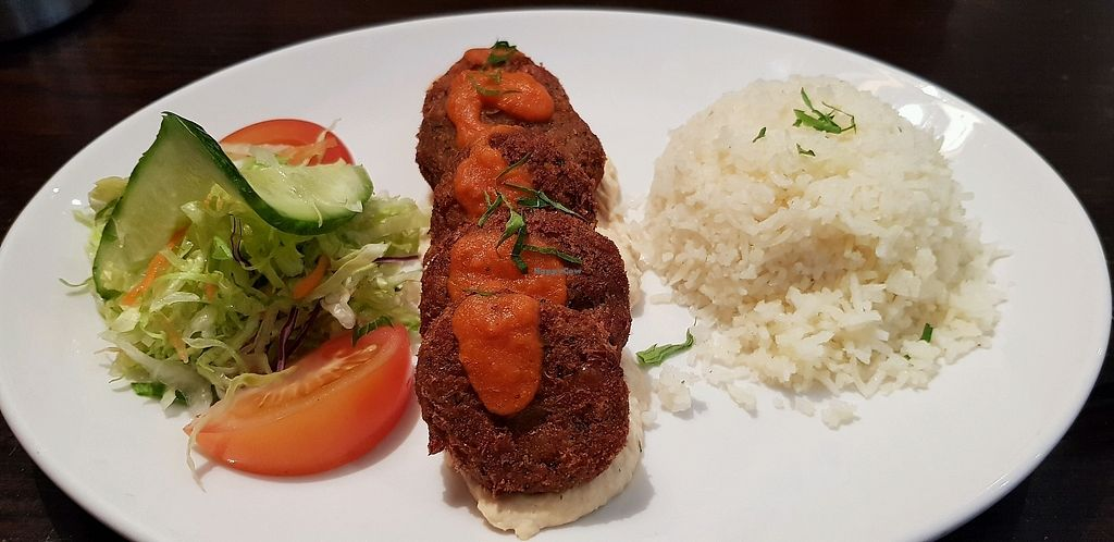 """Photo of Pasha  by <a href=""""/members/profile/Bra%C3%ADnneEdge"""">BraínneEdge</a> <br/>falafel and rice <br/> March 24, 2018  - <a href='/contact/abuse/image/62894/375448'>Report</a>"""