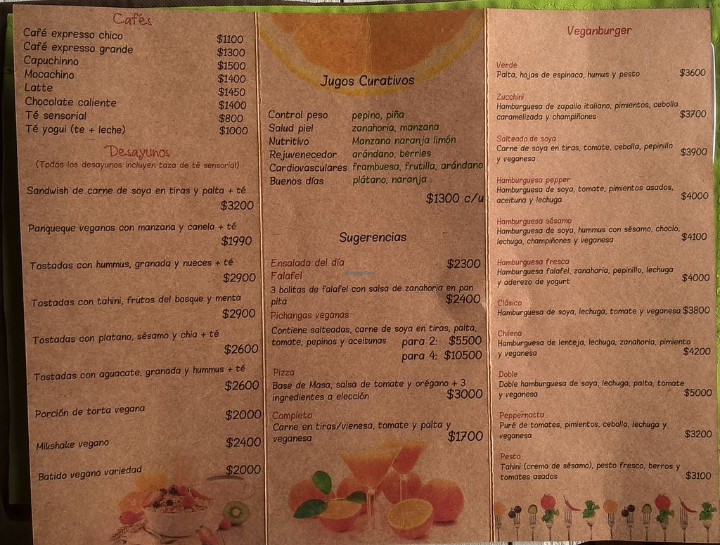 """Photo of CLOSED: Sesamo Rincon Vegetariano  by <a href=""""/members/profile/arya00"""">arya00</a> <br/>the menu (as of Nov 2015) <br/> November 27, 2015  - <a href='/contact/abuse/image/62905/126282'>Report</a>"""