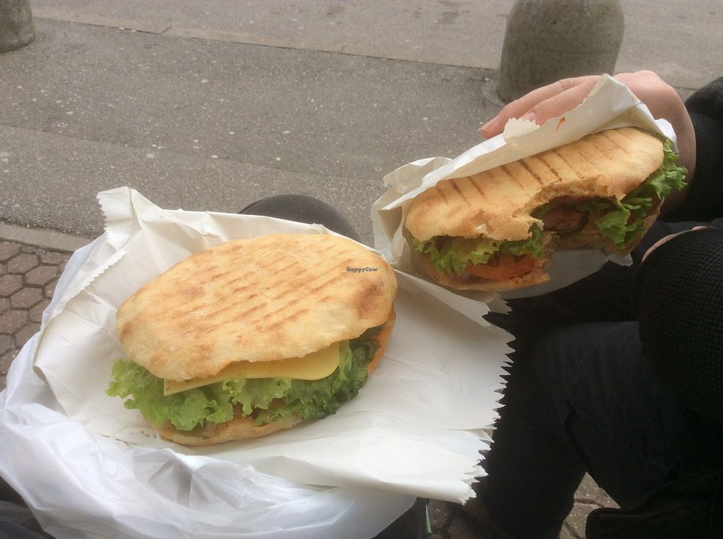 """Photo of Fast Food Vege Fino  by <a href=""""/members/profile/jon%20active"""">jon active</a> <br/>A burger and sausage in flat bread  <br/> March 15, 2016  - <a href='/contact/abuse/image/62912/140056'>Report</a>"""