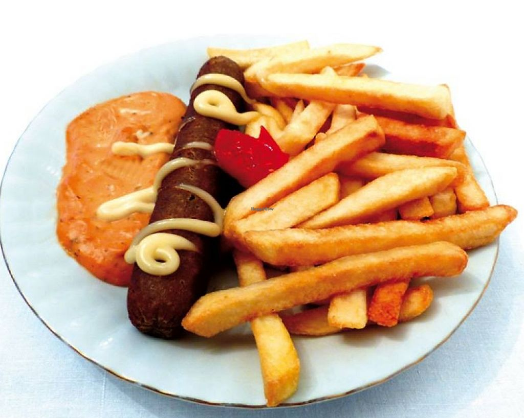 """Photo of Fast Food Vege Fino  by <a href=""""/members/profile/Mad%20Maggie"""">Mad Maggie</a> <br/>Vegan sausage and fries <br/> March 30, 2016  - <a href='/contact/abuse/image/62912/236153'>Report</a>"""