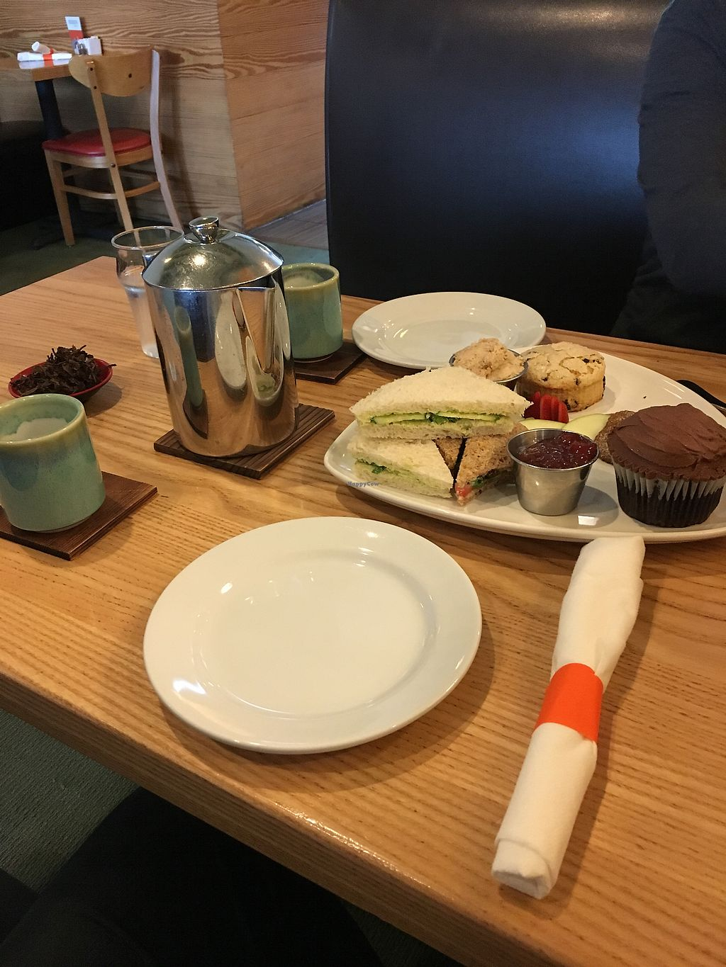 """Photo of The Steeping Room  by <a href=""""/members/profile/giant%20bunnie"""">giant bunnie</a> <br/>Vegan tea service!  <br/> March 25, 2018  - <a href='/contact/abuse/image/62921/375896'>Report</a>"""