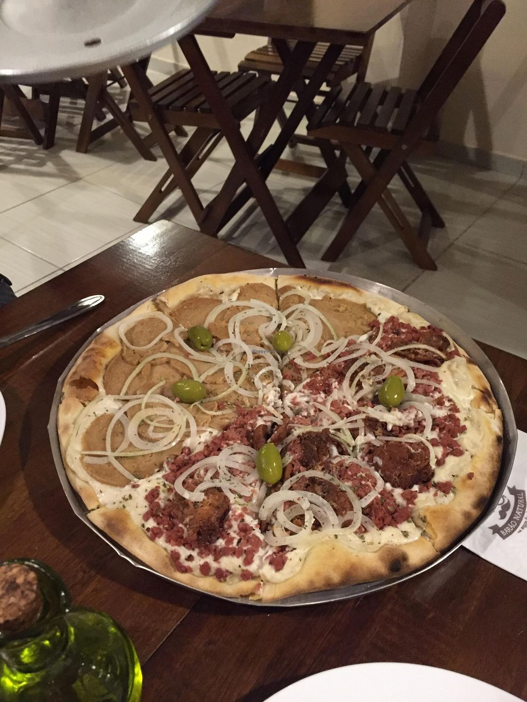 "Photo of Barao Natural - B4  by <a href=""/members/profile/Paolla"">Paolla</a> <br/>Vegan pizza - ''calabresa'' and ''lombo'' <br/> November 7, 2015  - <a href='/contact/abuse/image/62944/124188'>Report</a>"