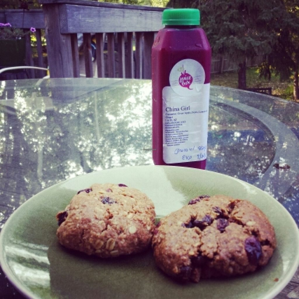 """Photo of CLE Juice Box  by <a href=""""/members/profile/suzygsteele"""">suzygsteele</a> <br/>Oatmeal Raisin cookies and China girl juice! <br/> January 22, 2016  - <a href='/contact/abuse/image/62945/133303'>Report</a>"""