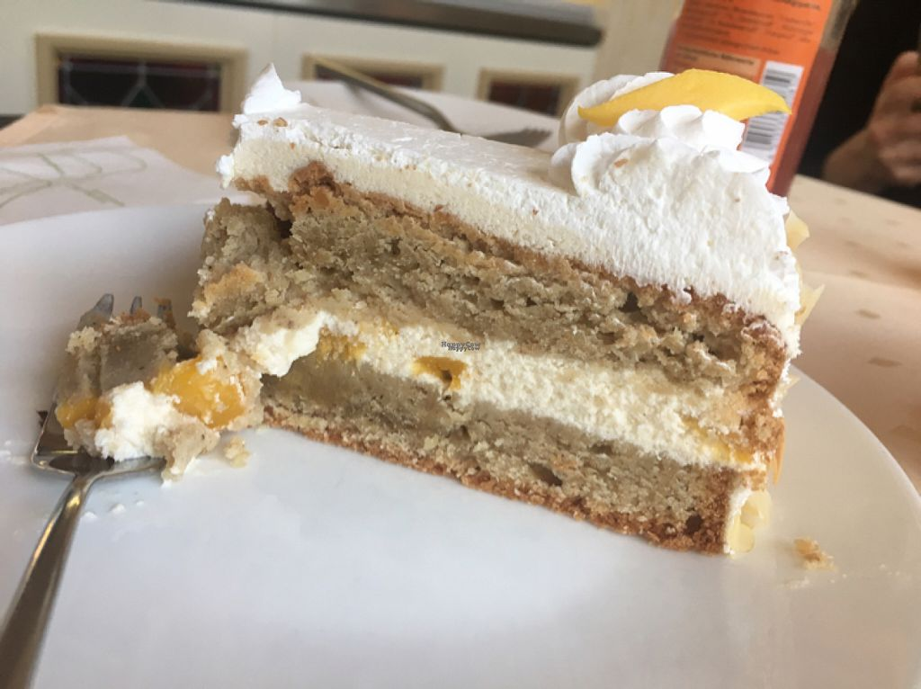 """Photo of StrandCafe Sassnitz  by <a href=""""/members/profile/AnnaAnnaAnnaAnna"""">AnnaAnnaAnnaAnna</a> <br/>Almond Mango Cake,delicious <br/> November 2, 2016  - <a href='/contact/abuse/image/62999/186102'>Report</a>"""