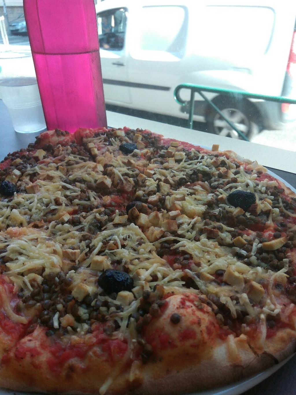 """Photo of CLOSED: Color Vegan  by <a href=""""/members/profile/Miggi"""">Miggi</a> <br/>Vegan pizza with green lentils, smoked tofu <br/> June 30, 2016  - <a href='/contact/abuse/image/63020/157032'>Report</a>"""