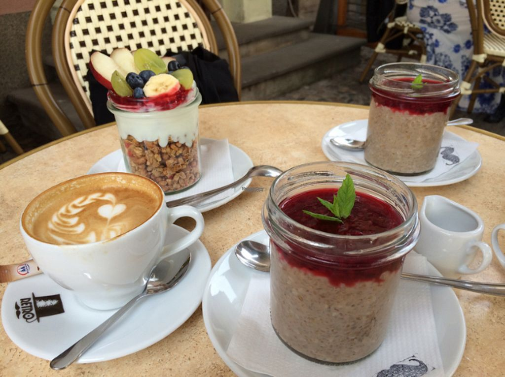 """Photo of Retro  by <a href=""""/members/profile/findmefond"""">findmefond</a> <br/>""""Special"""" oatmeal : buckwheat with nut milk and raspberry topping  <br/> August 4, 2016  - <a href='/contact/abuse/image/63024/165367'>Report</a>"""