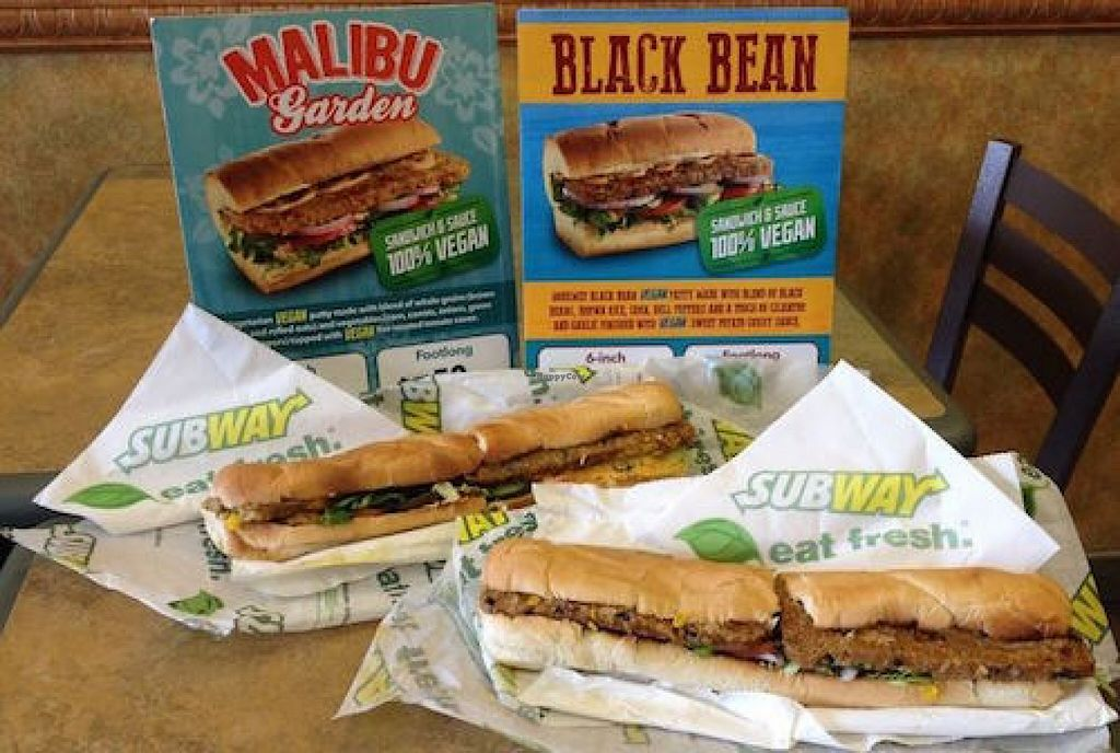 """Photo of Subway  by <a href=""""/members/profile/Veggi%2ALover"""">Veggi*Lover</a> <br/>This Subway now serves two different 100% vegan sandwiches and they come with own 100% vegan sauces <br/> September 12, 2015  - <a href='/contact/abuse/image/63042/117435'>Report</a>"""