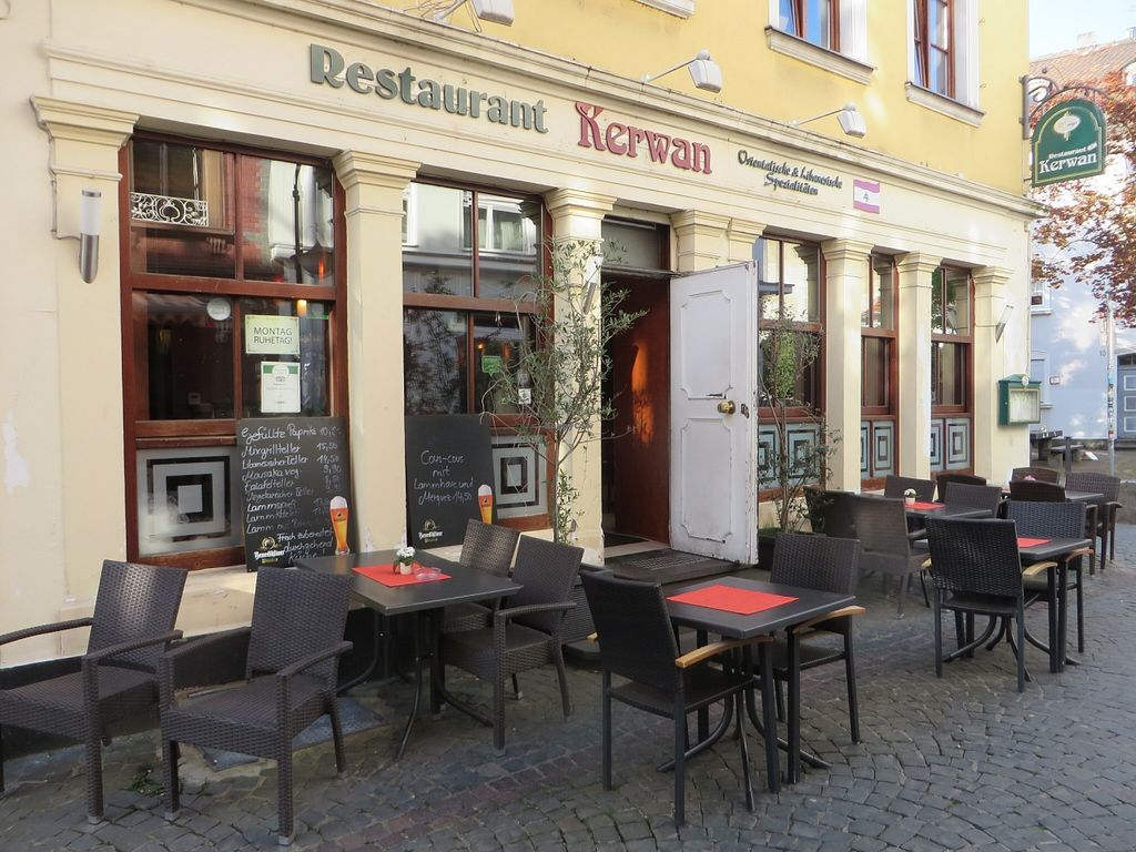 """Photo of Kerwan  by <a href=""""/members/profile/VegiAnna"""">VegiAnna</a> <br/>restaurant with outdoor seating <br/> May 4, 2016  - <a href='/contact/abuse/image/63099/147456'>Report</a>"""