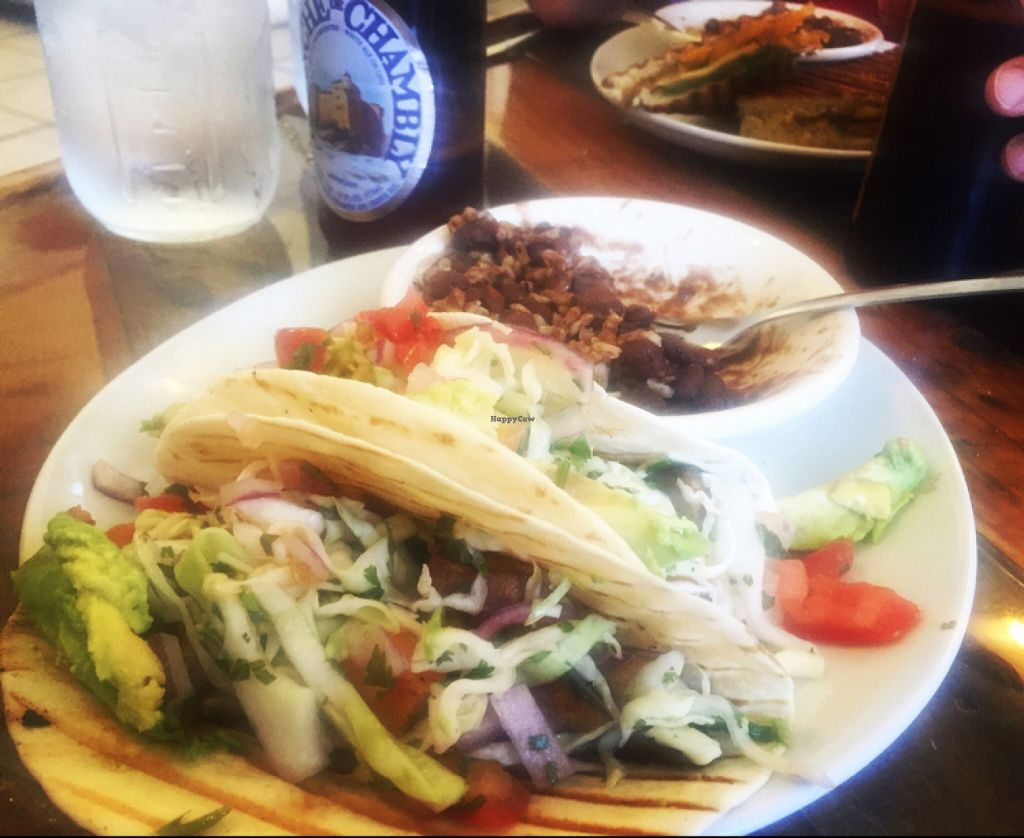 """Photo of CLOSED: Cultivate Cafe  by <a href=""""/members/profile/danascott96"""">danascott96</a> <br/>veggie tacos with beans and rice  <br/> April 4, 2016  - <a href='/contact/abuse/image/63111/142760'>Report</a>"""