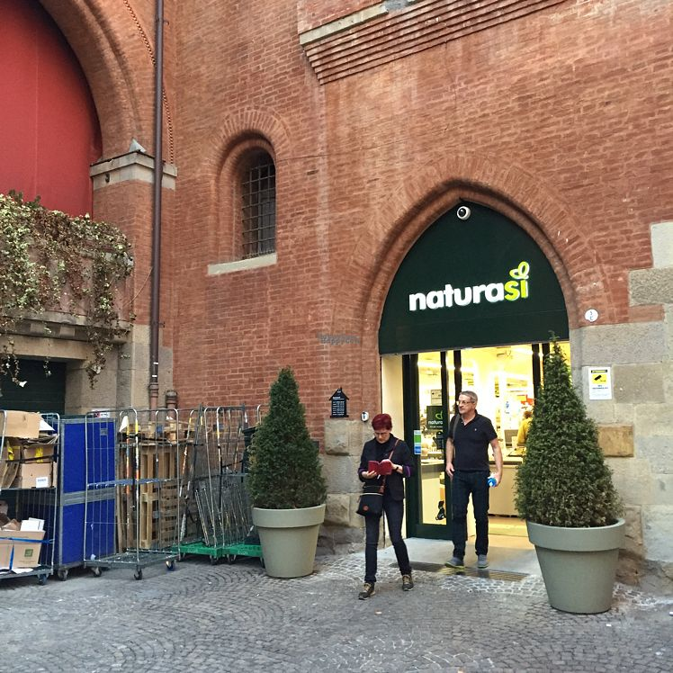 """Photo of NaturaSi - Via de' Toschi  by <a href=""""/members/profile/kmmakinen"""">kmmakinen</a> <br/>Shop entrance in small square <br/> September 23, 2016  - <a href='/contact/abuse/image/63137/177552'>Report</a>"""