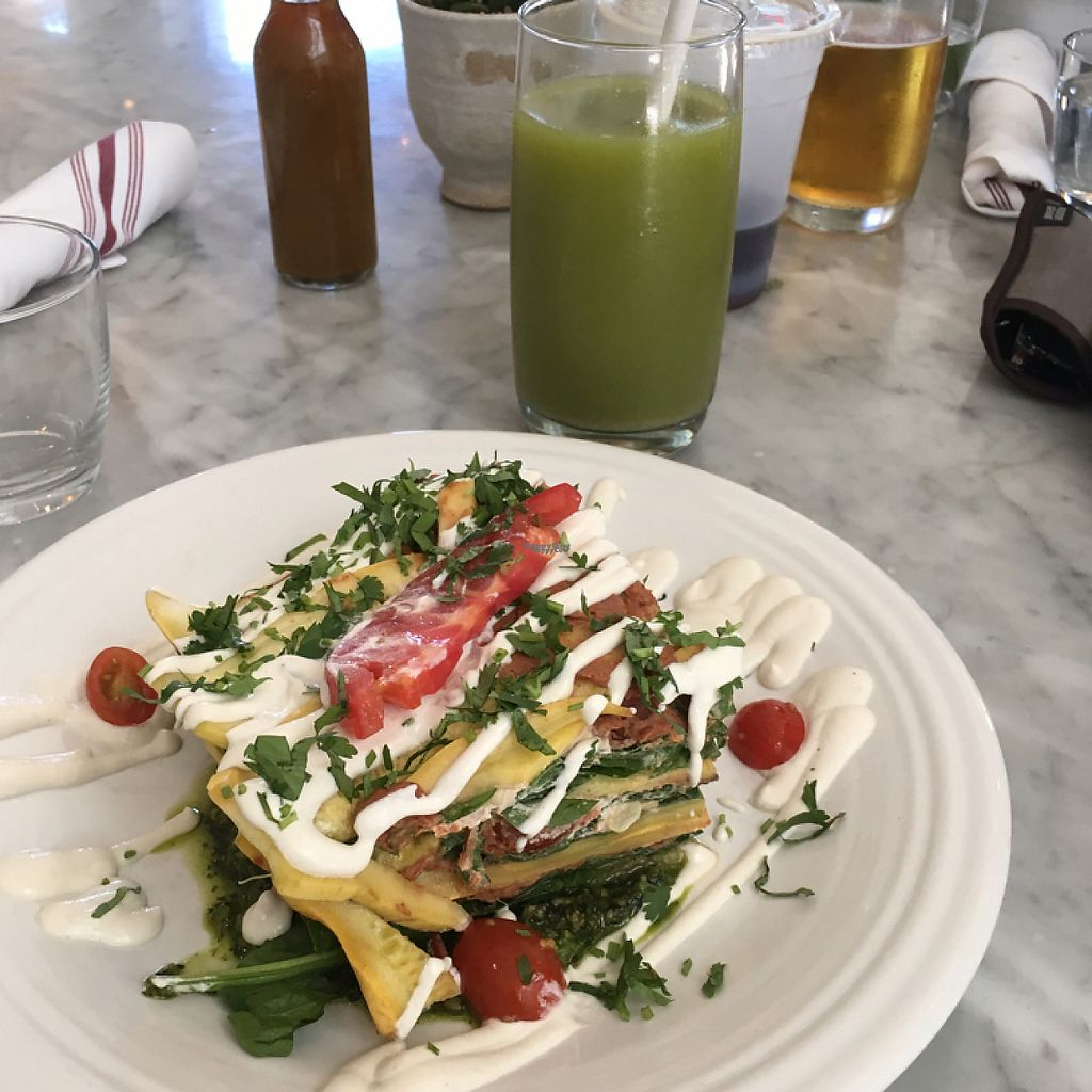 """Photo of Cafe Gratitude  by <a href=""""/members/profile/Sallyisme05"""">Sallyisme05</a> <br/>Seasonal Mexican Lasagna is Cacao mole!:) <br/> March 20, 2017  - <a href='/contact/abuse/image/63145/238739'>Report</a>"""
