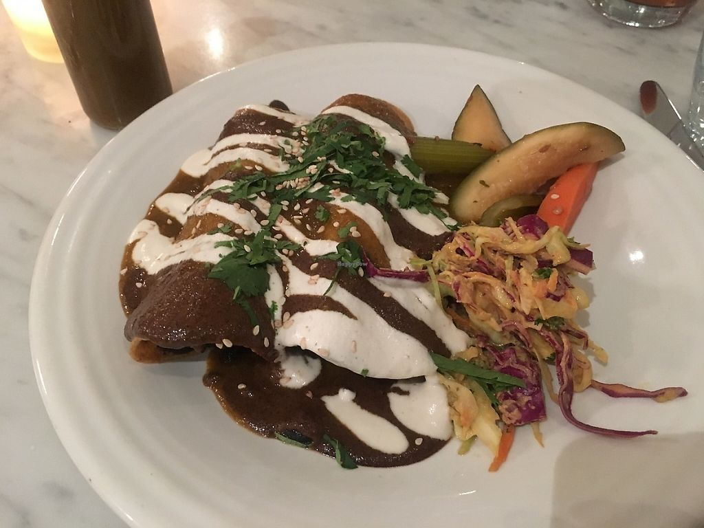 """Photo of Cafe Gratitude  by <a href=""""/members/profile/Diet%20Coach"""">Diet Coach</a> <br/>Elated (enchiladas) <br/> May 2, 2017  - <a href='/contact/abuse/image/63145/255065'>Report</a>"""