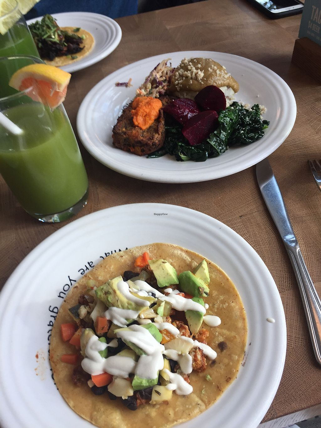 """Photo of Cafe Gratitude  by <a href=""""/members/profile/ma_ferms"""">ma_ferms</a> <br/>Tacos <br/> February 14, 2018  - <a href='/contact/abuse/image/63145/359126'>Report</a>"""