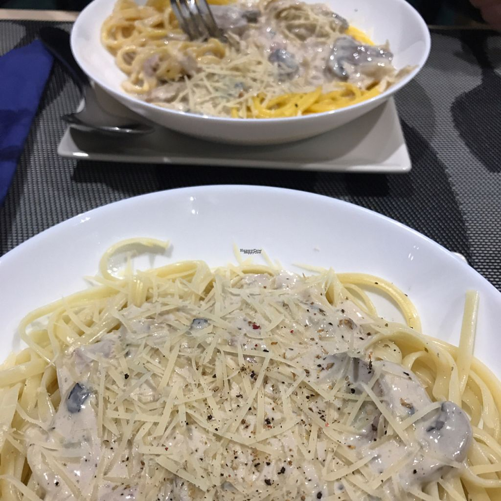 """Photo of Bambu  by <a href=""""/members/profile/Connec"""">Connec</a> <br/>pasta carbonara (sin i con gluten) <br/> April 26, 2017  - <a href='/contact/abuse/image/63162/252713'>Report</a>"""