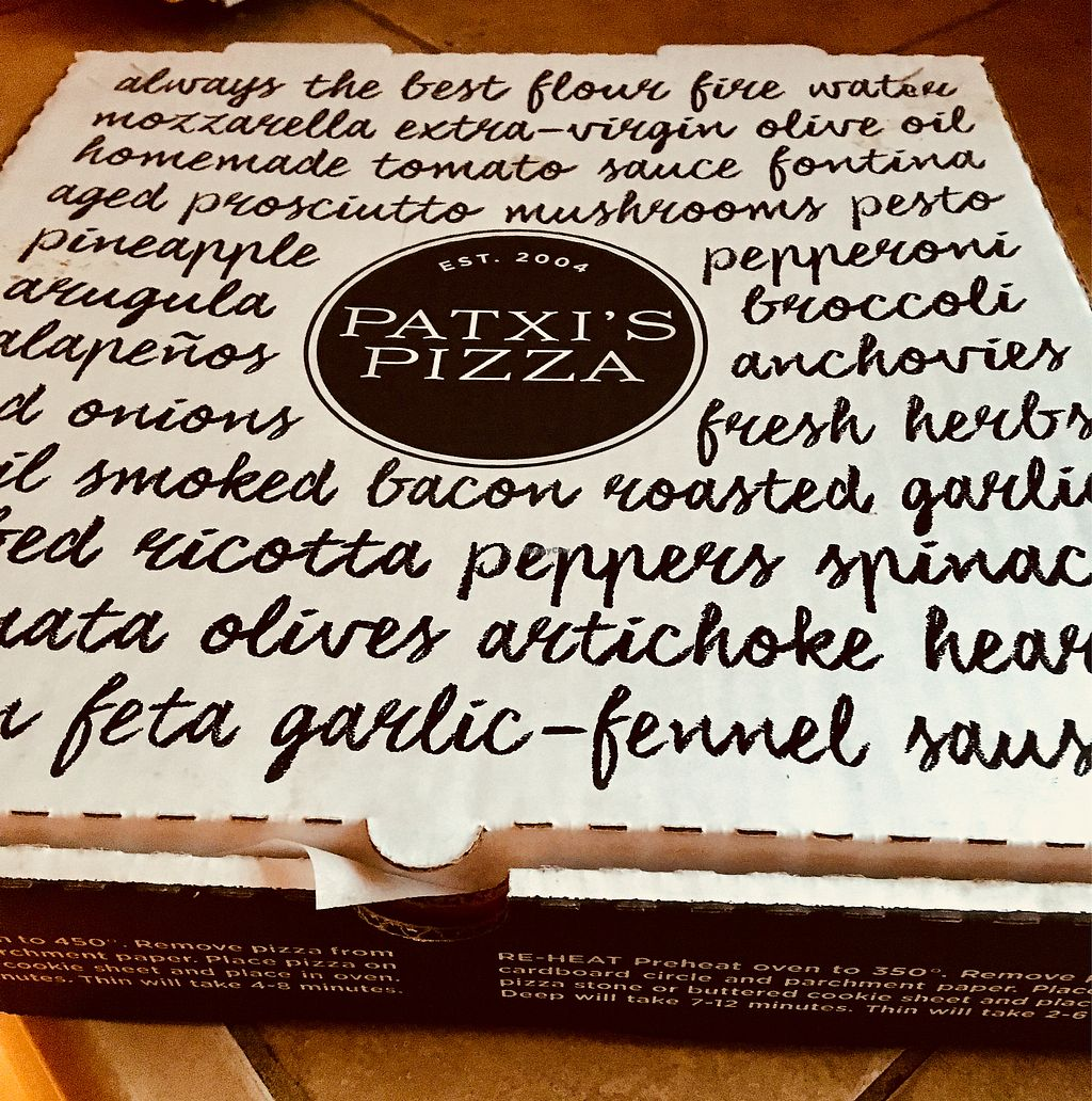 """Photo of Patxi's Pizza  by <a href=""""/members/profile/Clean%26Green"""">Clean&Green</a> <br/>Patxi's Pizza <br/> April 18, 2018  - <a href='/contact/abuse/image/63171/387479'>Report</a>"""