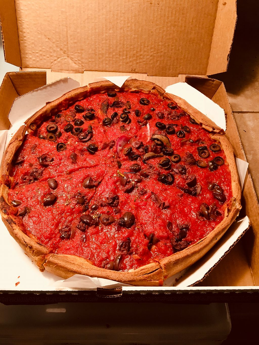 """Photo of Patxi's Pizza  by <a href=""""/members/profile/Clean%26Green"""">Clean&Green</a> <br/>Vegan pizza extra olives  <br/> April 18, 2018  - <a href='/contact/abuse/image/63171/387480'>Report</a>"""