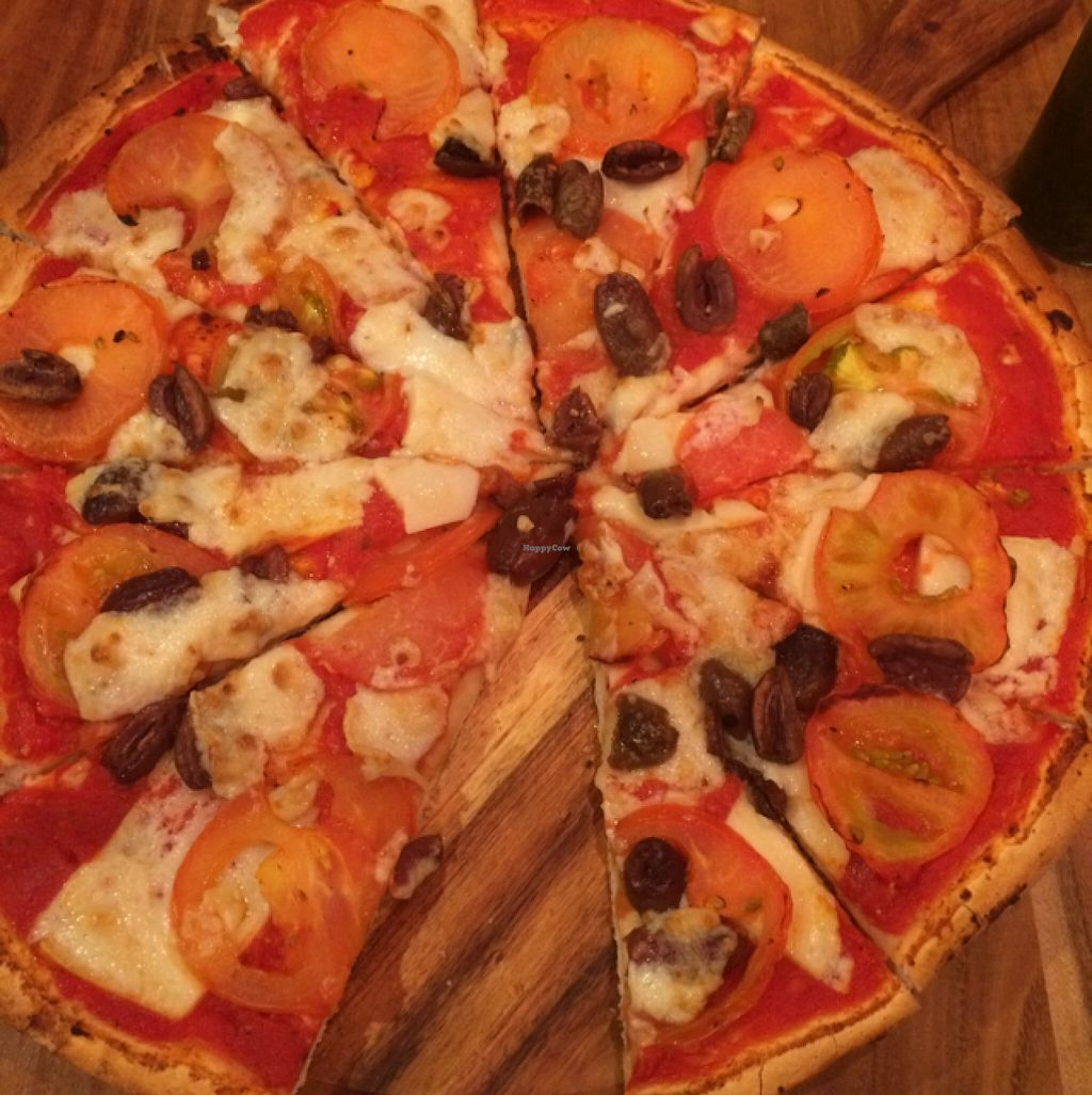 """Photo of Theo & Co. Pizzeria  by <a href=""""/members/profile/junglechick"""">junglechick</a> <br/>Margherita with added olives <br/> March 5, 2016  - <a href='/contact/abuse/image/63184/138909'>Report</a>"""