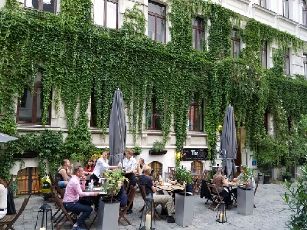 """Photo of TIAN Bistro am Spittelberg  by <a href=""""/members/profile/emenhir"""">emenhir</a> <br/>outside seating at Tian <br/> July 4, 2016  - <a href='/contact/abuse/image/63223/157773'>Report</a>"""