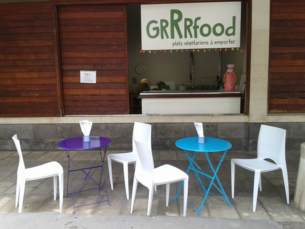 """Photo of GRRRfood  by <a href=""""/members/profile/ValerieBarbes"""">ValerieBarbes</a> <br/>vegan restaurant located in the center of the town! we serve only fresh home made and local products  our menu changes every day! <br/> September 10, 2015  - <a href='/contact/abuse/image/63226/117239'>Report</a>"""