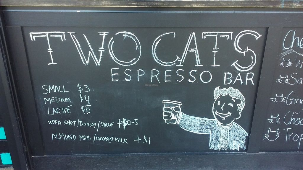 "Photo of Two Cats Espresso Bar  by <a href=""/members/profile/verbosity"">verbosity</a> <br/>Cawfee <br/> November 15, 2015  - <a href='/contact/abuse/image/63229/125033'>Report</a>"