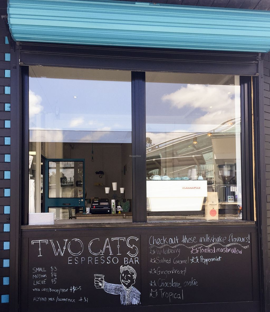 "Photo of Two Cats Espresso Bar  by <a href=""/members/profile/karlaess"">karlaess</a> <br/>Exterior <br/> November 15, 2015  - <a href='/contact/abuse/image/63229/125043'>Report</a>"