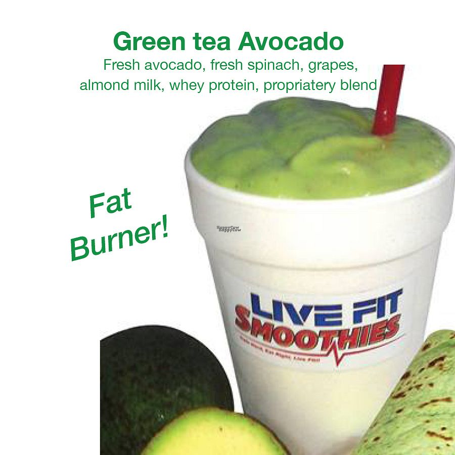 "Photo of Live Fit Smoothies  by <a href=""/members/profile/RyanFit1"">RyanFit1</a> <br/>Green Tea Avocado Smoothie, Fat Burner <br/> September 14, 2016  - <a href='/contact/abuse/image/63246/175742'>Report</a>"
