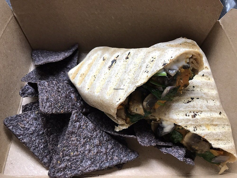 "Photo of Healthy on Lark  by <a href=""/members/profile/nlevine94"">nlevine94</a> <br/>Vegan breakfast wrap with side of blue corn chips. Delicious and filling! <br/> November 11, 2017  - <a href='/contact/abuse/image/63280/324256'>Report</a>"