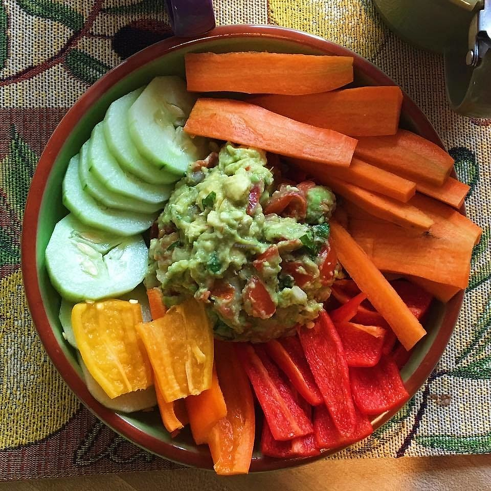 "Photo of Healthy on Lark  by <a href=""/members/profile/dzhao114"">dzhao114</a> <br/>Guacamole Plate with Seasonal Veggies <br/> February 16, 2018  - <a href='/contact/abuse/image/63280/359870'>Report</a>"