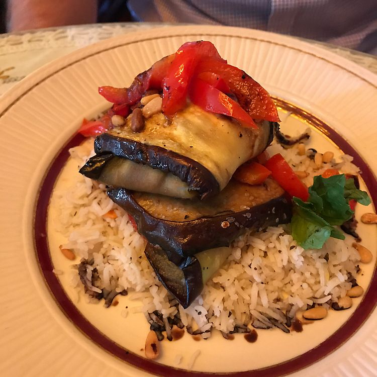 """Photo of York St Cafe  by <a href=""""/members/profile/kjconrad88"""">kjconrad88</a> <br/>New vegan 'eggplant pocket' dish <br/> June 22, 2017  - <a href='/contact/abuse/image/63283/272403'>Report</a>"""