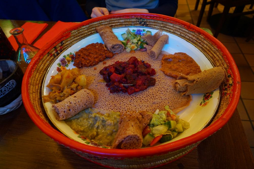 """Photo of Little Ethiopia  by <a href=""""/members/profile/MMaree"""">MMaree</a> <br/>The amazing veg combination dish - a must try! <br/> February 23, 2016  - <a href='/contact/abuse/image/63290/137426'>Report</a>"""