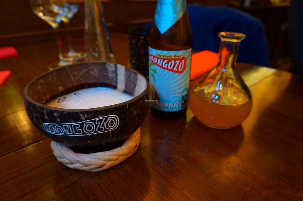 """Photo of Little Ethiopia  by <a href=""""/members/profile/MMaree"""">MMaree</a> <br/>Mongozo coconut-beer. Loved it! Couldn't try the other flavors, next time! (Mango and pineapple(?)) It contains fair-trade rice and coconut milk next to the standard ingredients. Don't know if the beer is made vegan though.  <br/> February 23, 2016  - <a href='/contact/abuse/image/63290/137430'>Report</a>"""