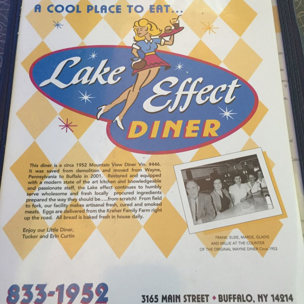 """Photo of Lake Effect Diner  by <a href=""""/members/profile/Drhannahj"""">Drhannahj</a> <br/>Menu Cover <br/> May 29, 2016  - <a href='/contact/abuse/image/63292/151246'>Report</a>"""