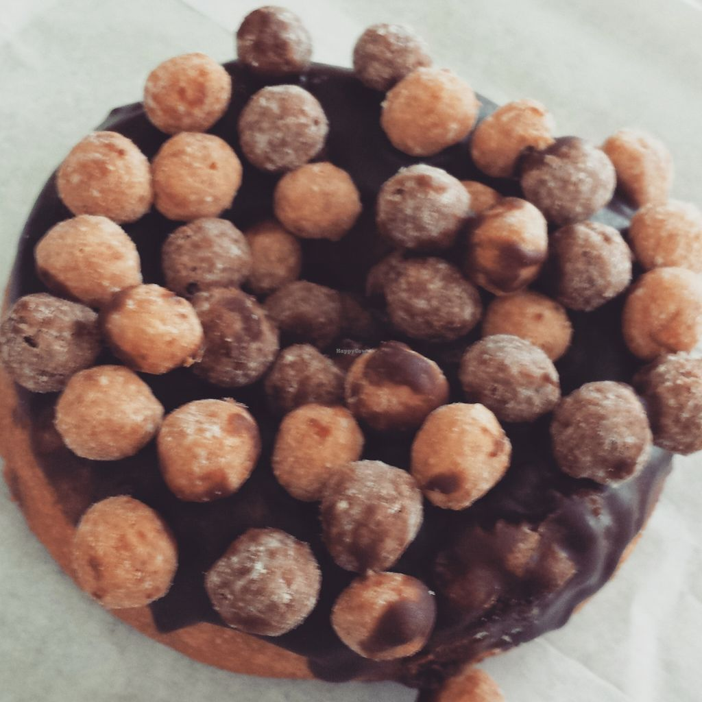 "Photo of Zombee Donuts & Bakeshop  by <a href=""/members/profile/aliritto"">aliritto</a> <br/>Reese's puffs vegan donut <br/> February 21, 2016  - <a href='/contact/abuse/image/63295/137213'>Report</a>"