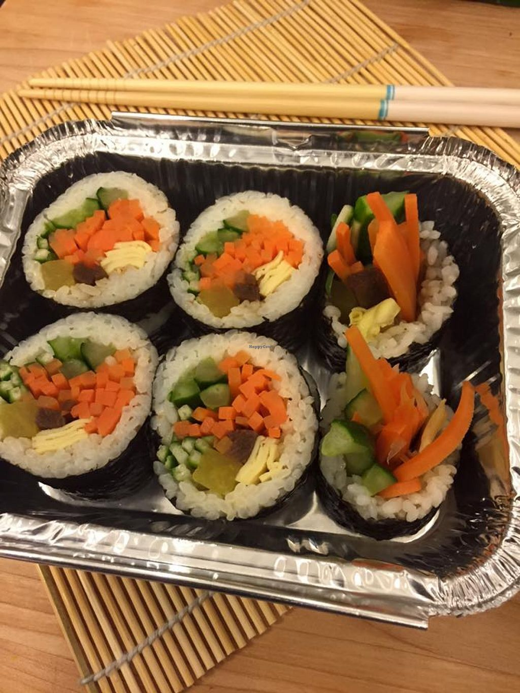 """Photo of Dosirak House in Tung Chung  by <a href=""""/members/profile/Stevie"""">Stevie</a> <br/>Vegetable kimbap <br/> September 13, 2015  - <a href='/contact/abuse/image/63301/117542'>Report</a>"""